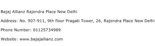 Bajaj Allianz Rajendra Place New Delhi Address Contact Number