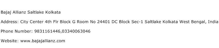 Bajaj Allianz Saltlake Kolkata Address Contact Number