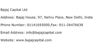 Bajaj Capital Ltd Address Contact Number