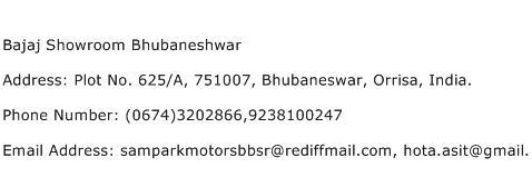 Bajaj Showroom Bhubaneshwar Address Contact Number