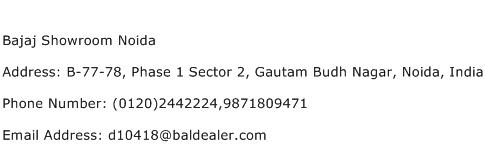Bajaj Showroom Noida Address Contact Number