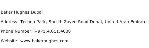 Baker Hughes Dubai Address Contact Number