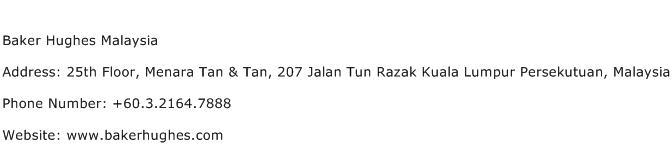 Baker Hughes Malaysia Address Contact Number