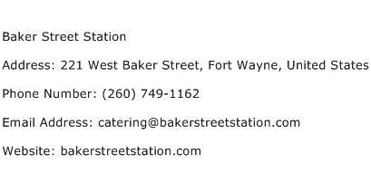 Baker Street Station Address Contact Number