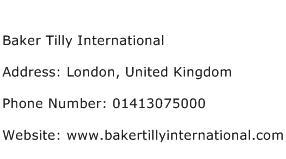 Baker Tilly International Address Contact Number