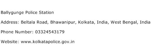 Ballygunge Police Station Address Contact Number