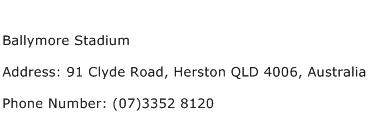 Ballymore Stadium Address Contact Number