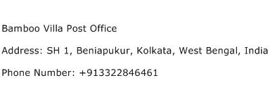 Bamboo Villa Post Office Address Contact Number