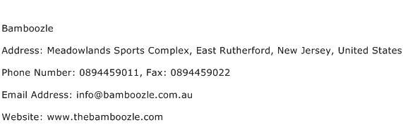 Bamboozle Address Contact Number