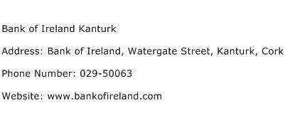Bank of Ireland Kanturk Address Contact Number