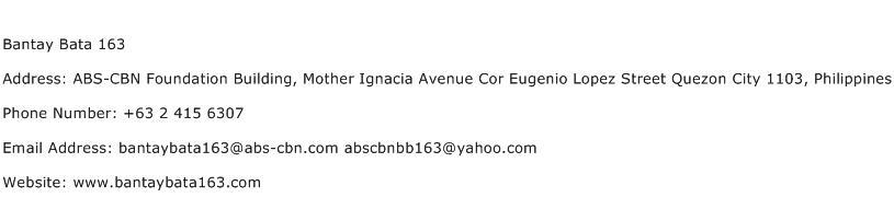 Bantay Bata 163 Address Contact Number