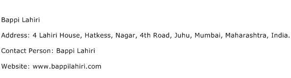 Bappi Lahiri Address Contact Number