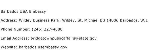Barbados USA Embassy Address Contact Number