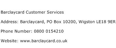 Barclaycard Customer Services Address Contact Number