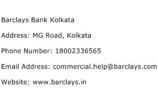 Barclays Bank Kolkata Address Contact Number