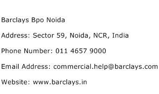 Barclays Bpo Noida Address Contact Number