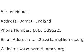 Barnet Homes Address Contact Number