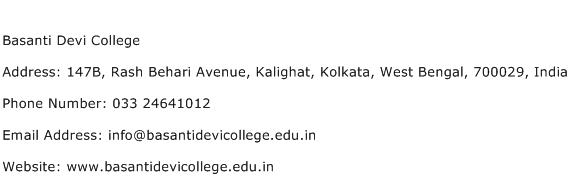 Basanti Devi College Address Contact Number
