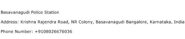 Basavanagudi Police Station Address Contact Number