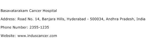 Basavatarakam Cancer Hospital Address Contact Number