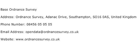 Base Ordnance Survey Address Contact Number