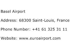 Basel Airport Address Contact Number