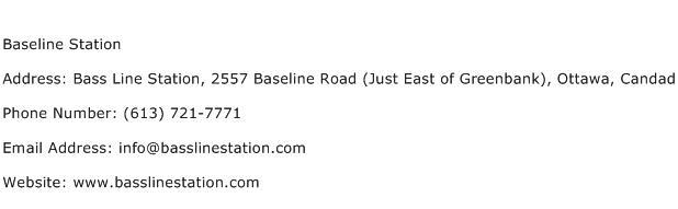 Baseline Station Address Contact Number