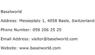 Baselworld Address Contact Number