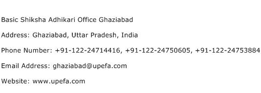 Basic Shiksha Adhikari Office Ghaziabad Address Contact Number