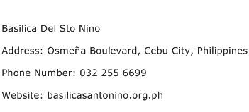 Basilica Del Sto Nino Address Contact Number