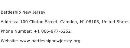 Battleship New Jersey Address Contact Number