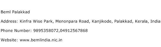 Beml Palakkad Address Contact Number