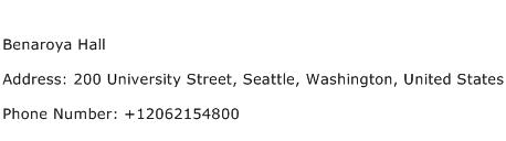 Benaroya Hall Address Contact Number