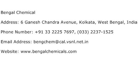 Bengal Chemical Address Contact Number