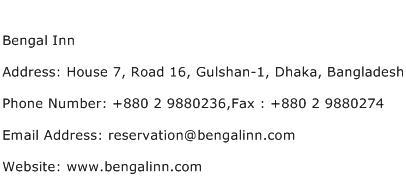 Bengal Inn Address Contact Number