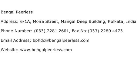 Bengal Peerless Address Contact Number