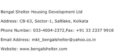 Bengal Shelter Housing Development Ltd Address Contact Number