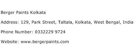 Berger Paints Kolkata Address Contact Number