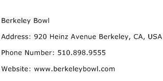 Berkeley Bowl Address Contact Number