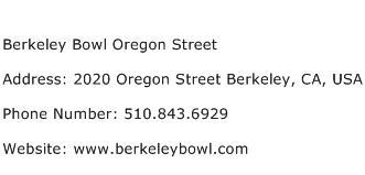 Berkeley Bowl Oregon Street Address Contact Number