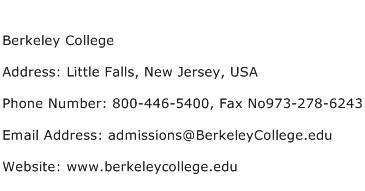 Berkeley College Address Contact Number