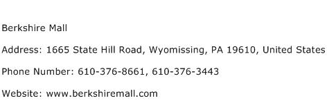 Berkshire Mall Address Contact Number