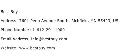 Best Buy Address Contact Number
