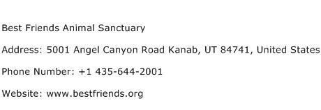 Best Friends Animal Sanctuary Address Contact Number