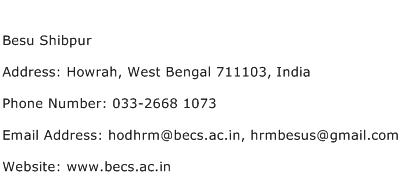 Besu Shibpur Address Contact Number