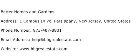 Better Homes and Gardens Address Contact Number