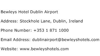 Bewleys Hotel Dublin Airport Address Contact Number