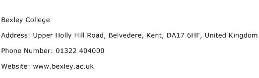 Bexley College Address Contact Number