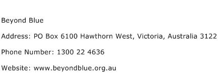 Beyond Blue Address Contact Number