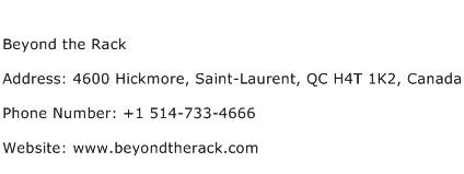 Beyond the Rack Address Contact Number